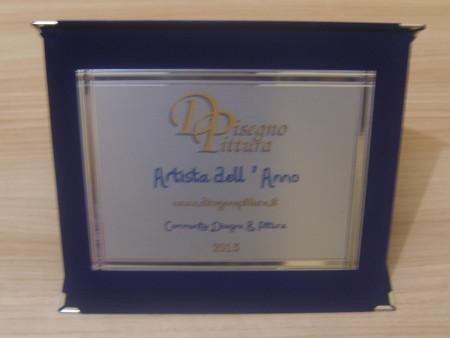 Targa Premio Artista dell'Anno 2013