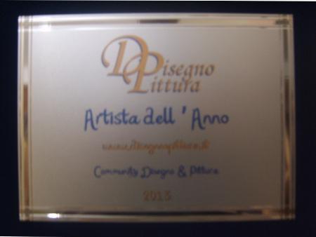 Targa Premio Artista dell'Anno 2013 - Etichetta