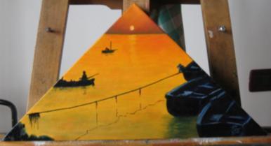 Pescatori al Tramonto - Enrico Rudelli